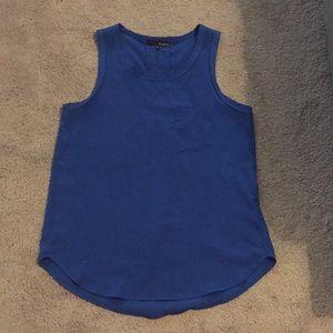 Ro & De cobalt blue sleeveless blouse